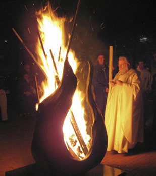 Easter Vigil Fire