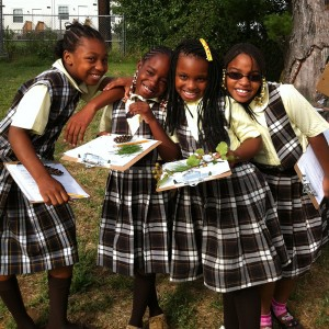 Students learn about nature